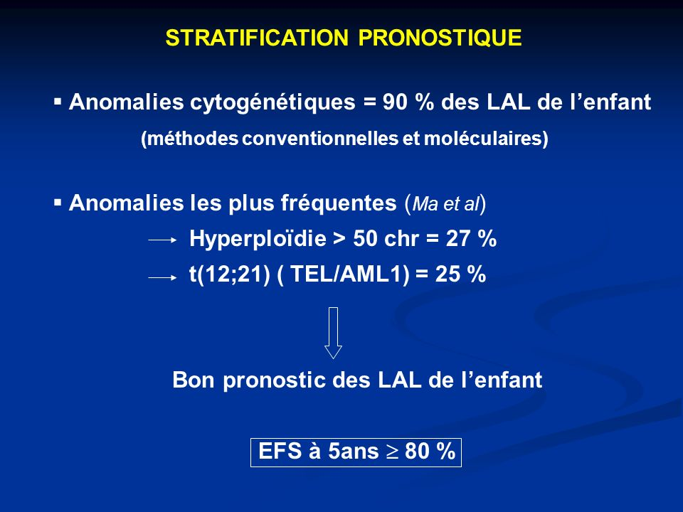 STRATIFICATION PRONOSTIQUE