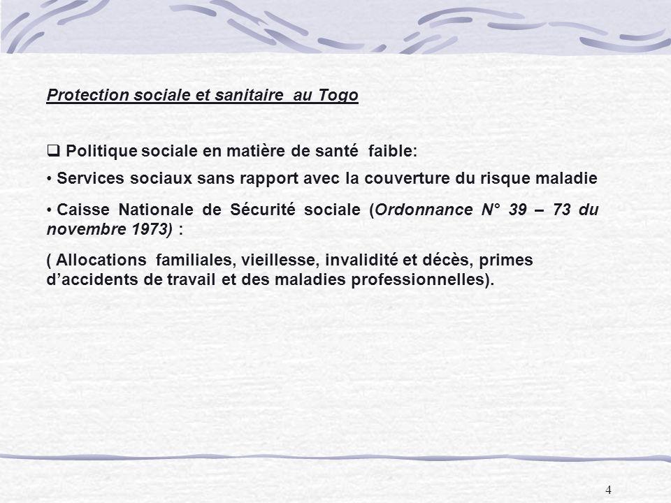 Protection sociale et sanitaire au Togo