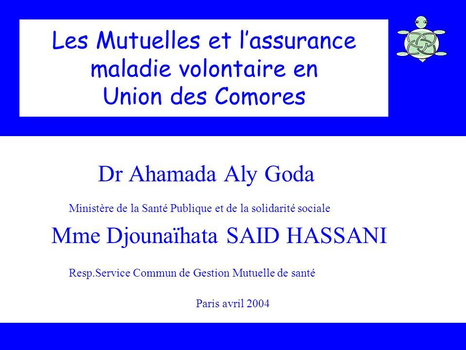 Les Mutuelles et l'assurance maladie volontaire en Union des Comores