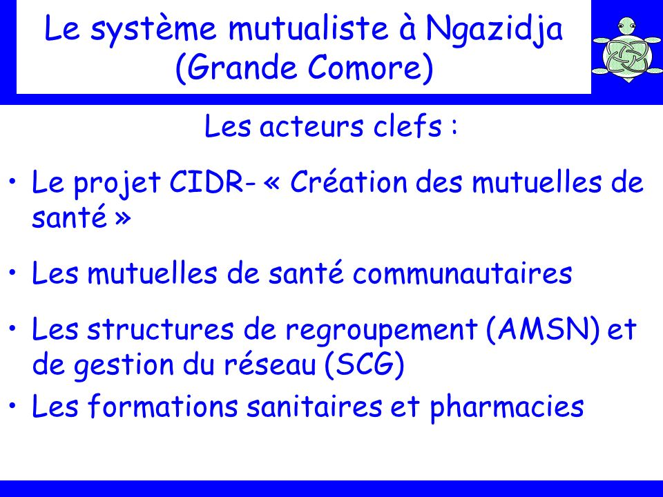 Le système mutualiste à Ngazidja (Grande Comore)