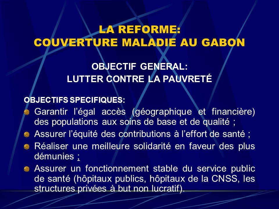 LA REFORME: COUVERTURE MALADIE AU GABON