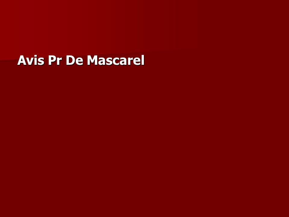 Avis Pr De Mascarel