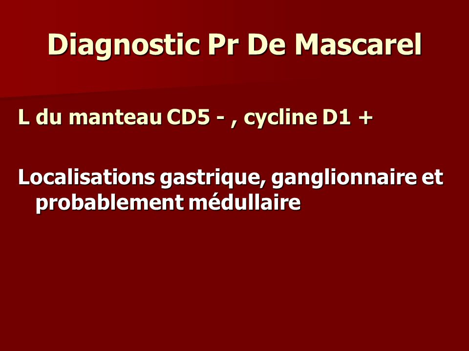 Diagnostic Pr De Mascarel