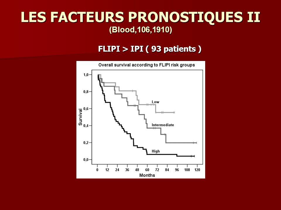 LES FACTEURS PRONOSTIQUES II (Blood,106,1910)
