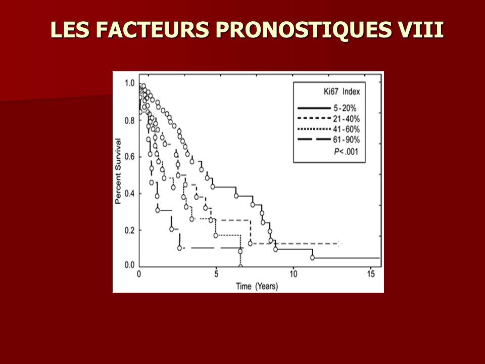 LES FACTEURS PRONOSTIQUES VIII
