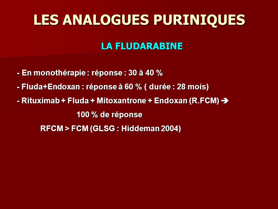 LES ANALOGUES PURINIQUES