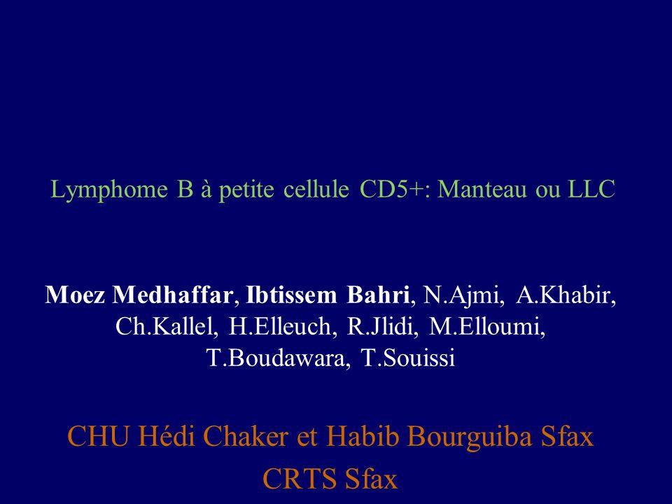 Lymphome B à petite cellule CD5+: Manteau ou LLC