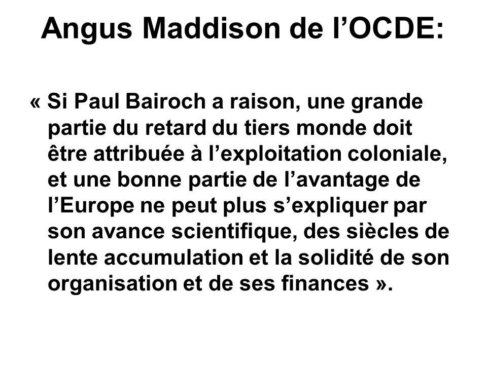 Angus Maddison de l'OCDE: