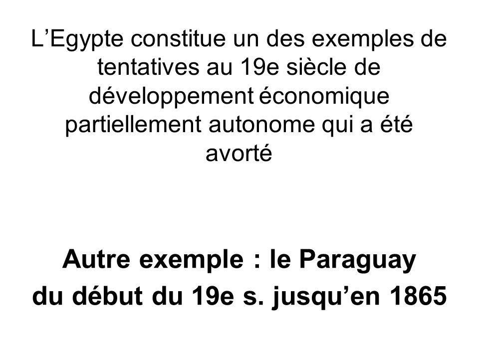 Autre exemple : le Paraguay