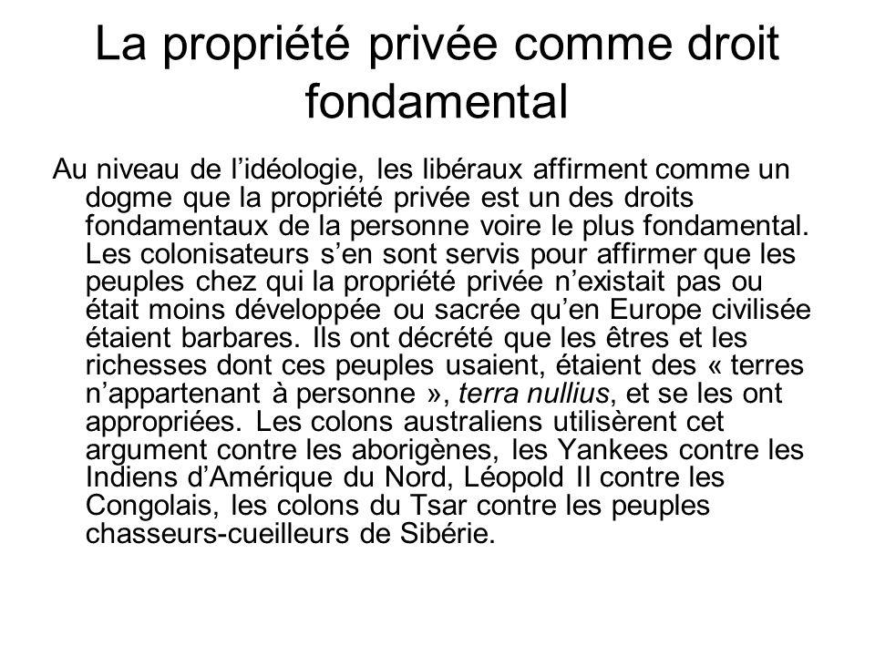 La propriété privée comme droit fondamental