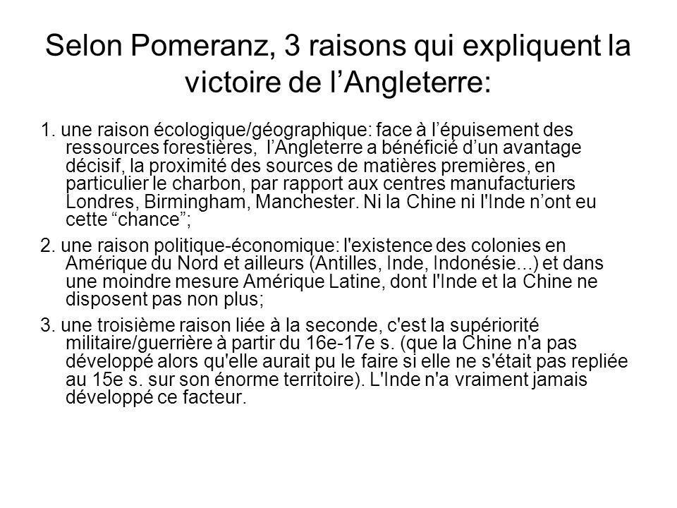 Selon Pomeranz, 3 raisons qui expliquent la victoire de l'Angleterre: