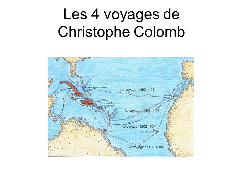 Les 4 voyages de Christophe Colomb