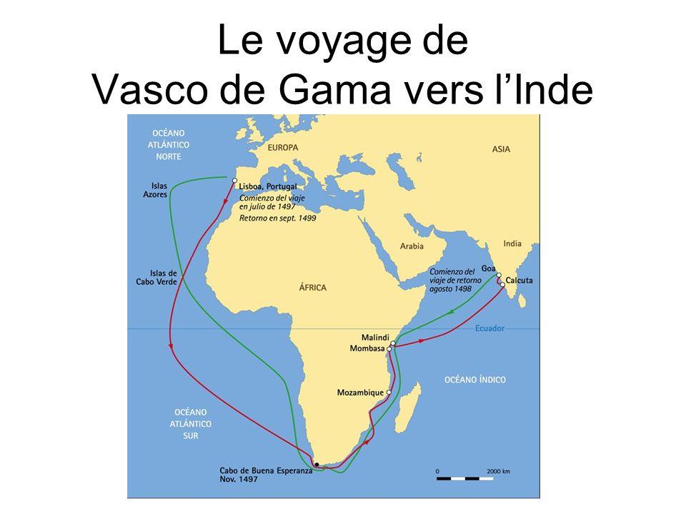 Le voyage de Vasco de Gama vers l'Inde
