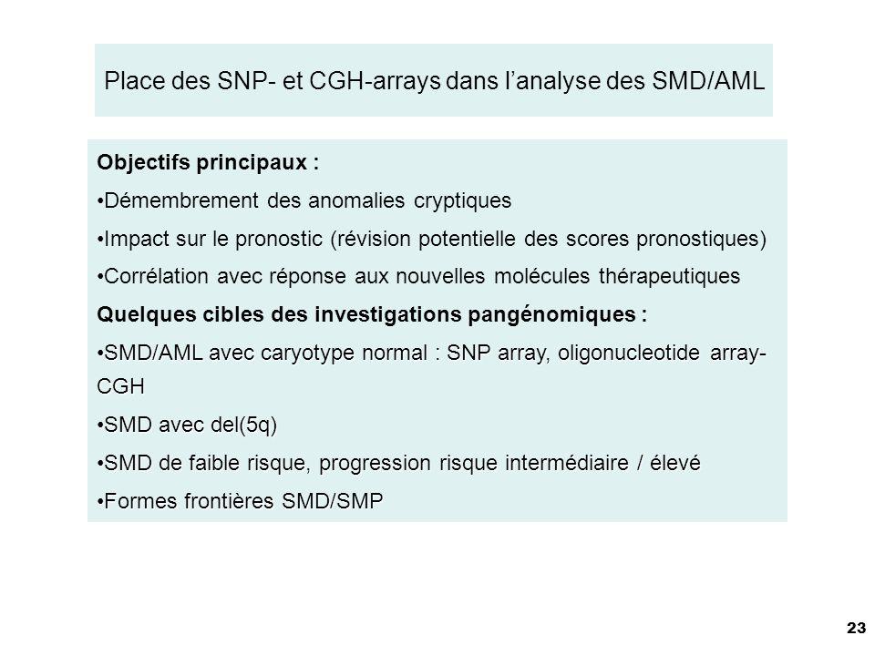 Place des SNP- et CGH-arrays dans l'analyse des SMD/AML