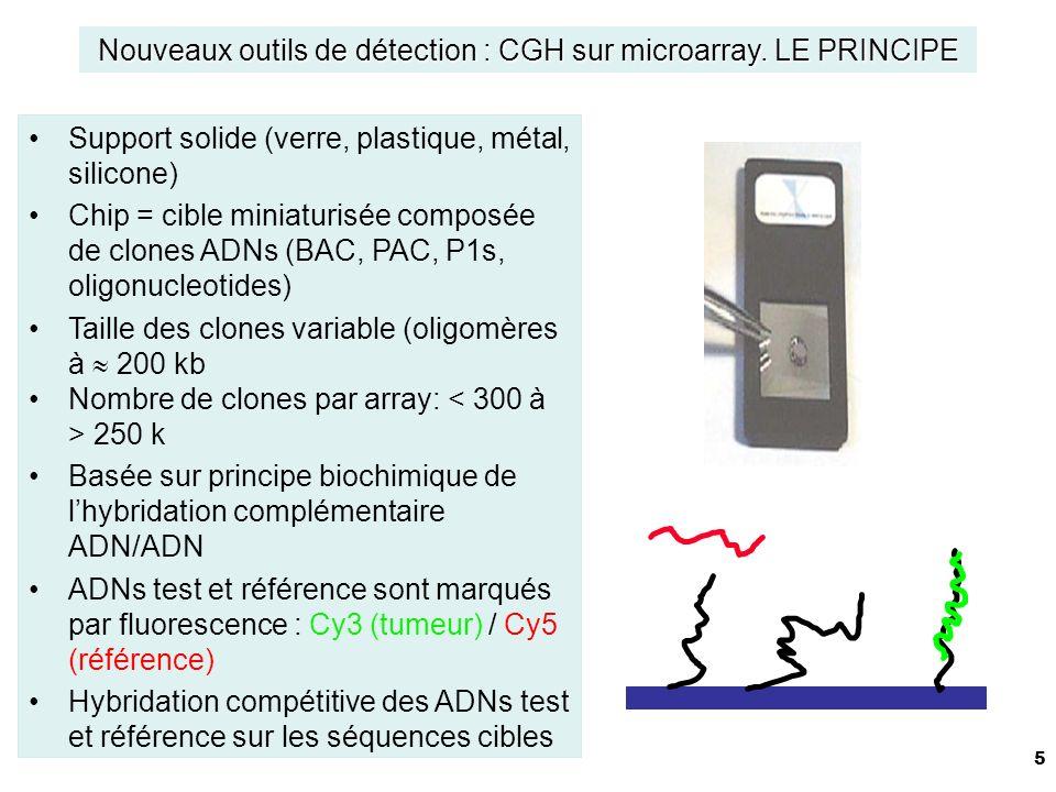 Nouveaux outils de détection : CGH sur microarray. LE PRINCIPE