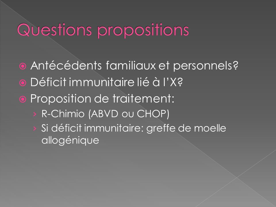 Questions propositions