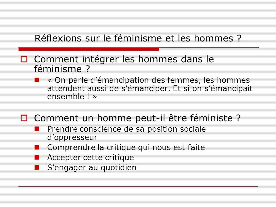 Réflexions sur le féminisme et les hommes