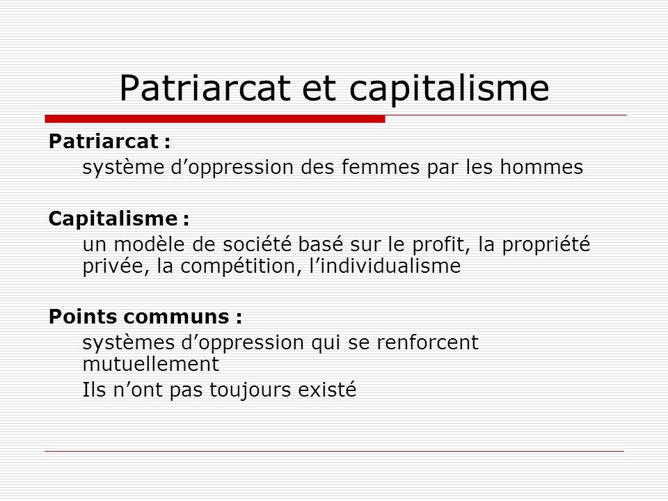 Patriarcat et capitalisme