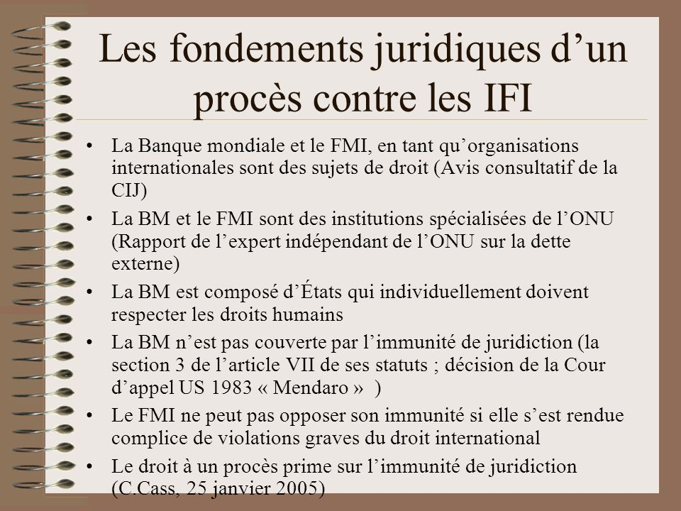 Les fondements juridiques d'un procès contre les IFI