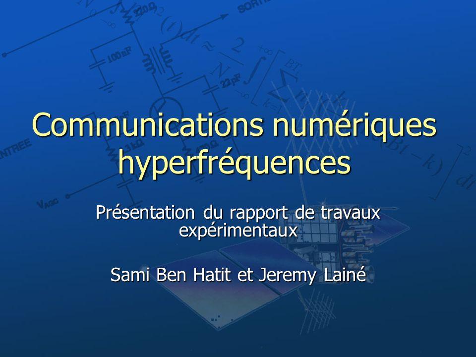 Communications numériques hyperfréquences