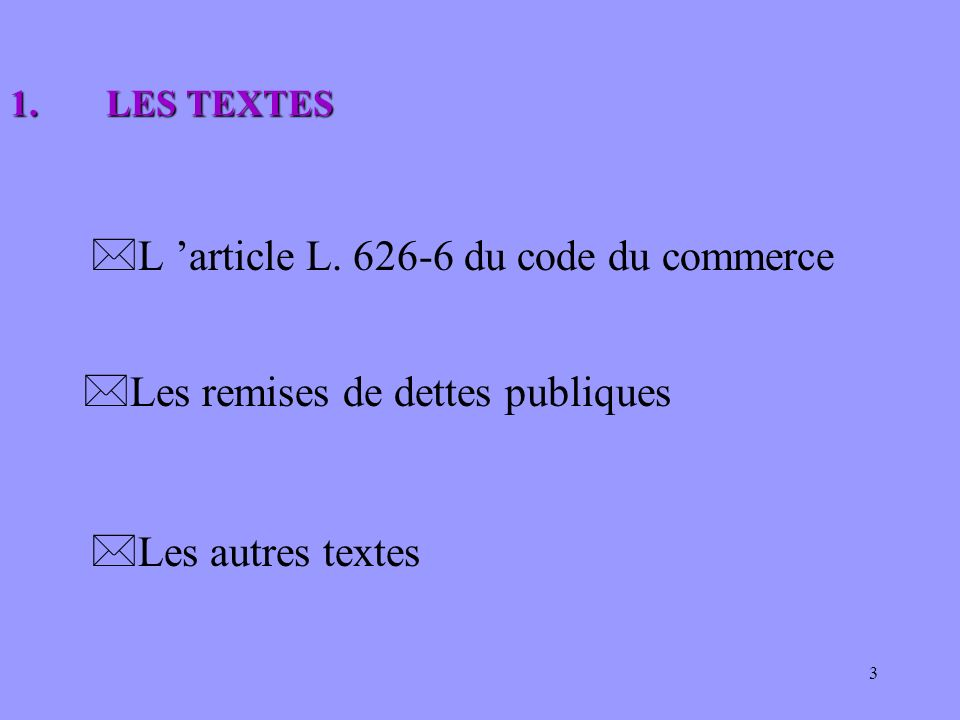 L 'article L. 626-6 du code du commerce