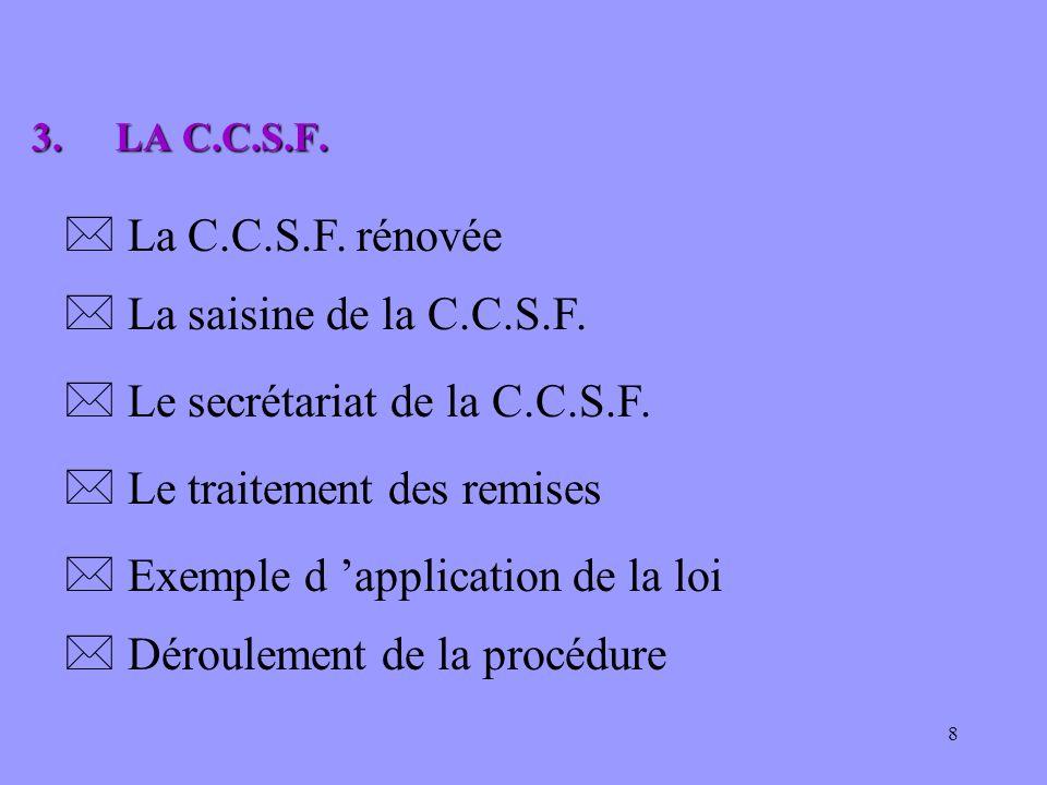 Le secrétariat de la C.C.S.F.