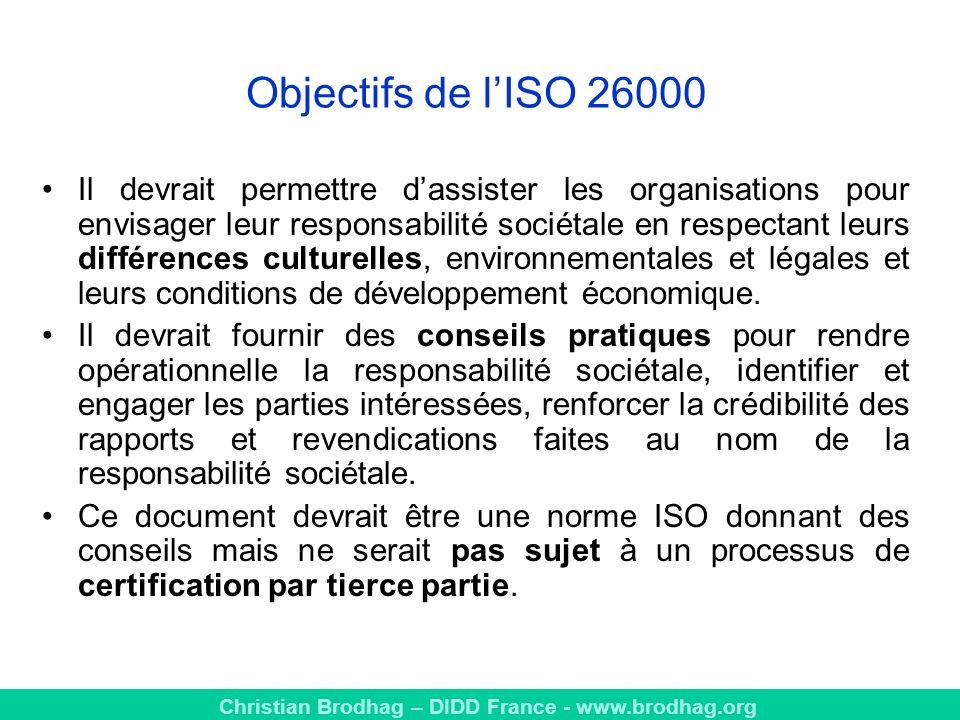 Objectifs de l'ISO 26000