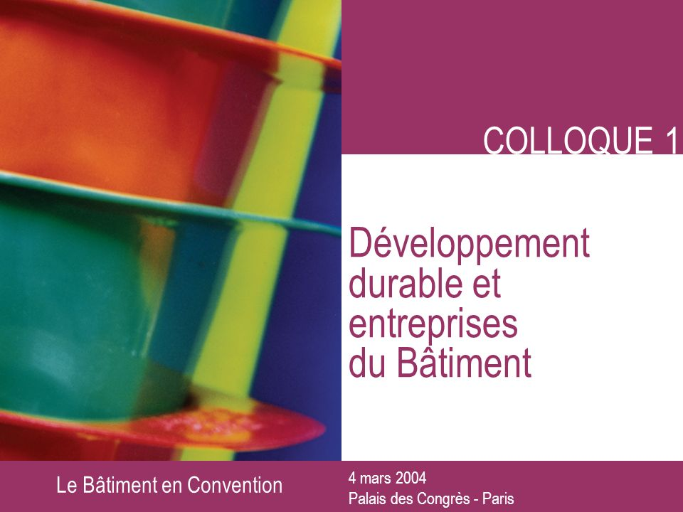 Le Bâtiment en Convention