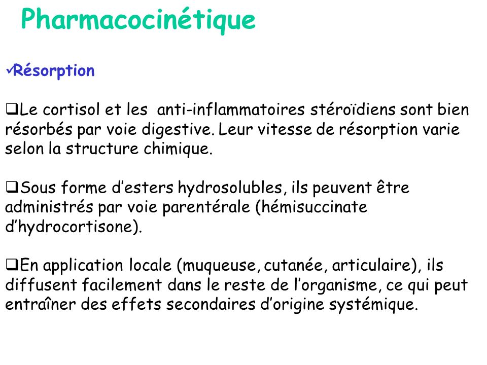 Pharmacocinétique Résorption