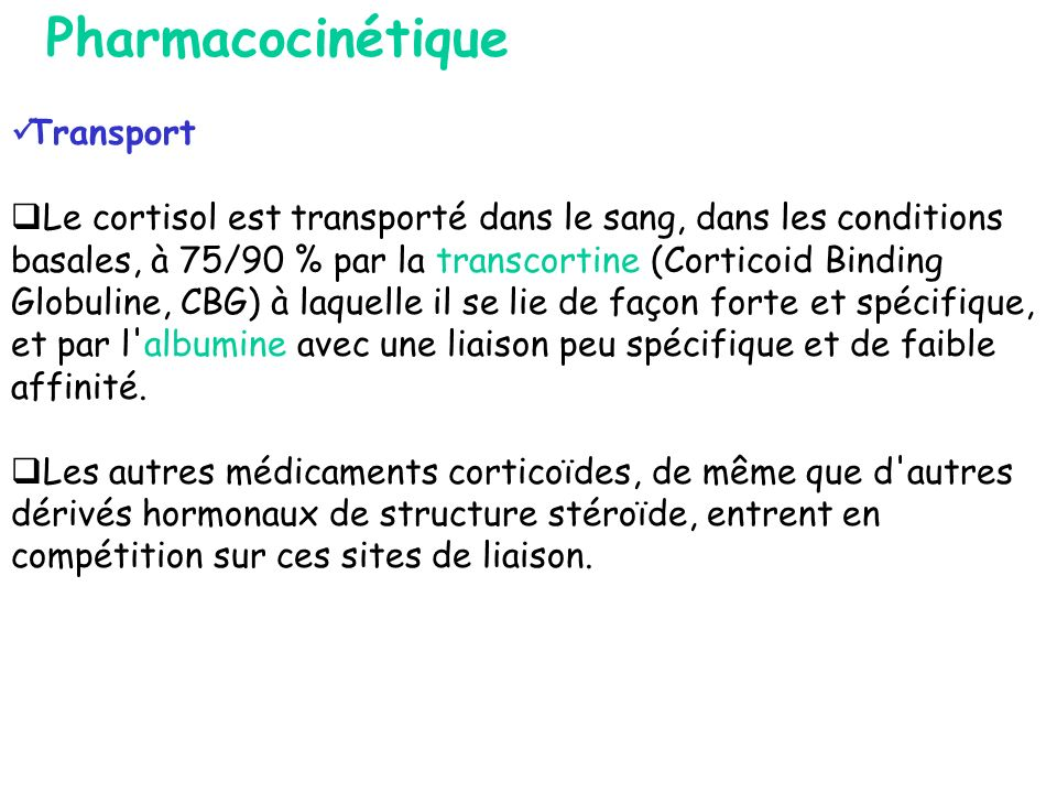 Pharmacocinétique Transport
