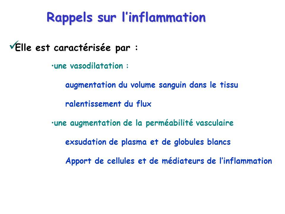 Rappels sur l'inflammation