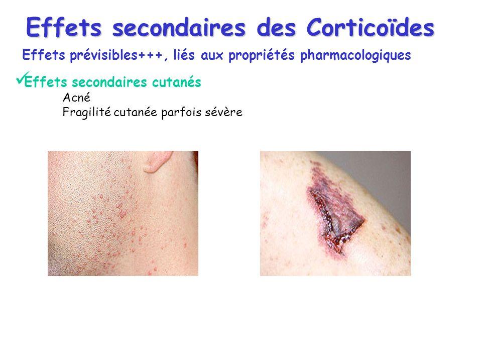 Effets secondaires des Corticoïdes