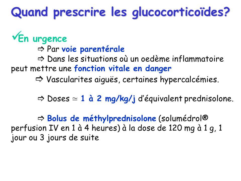 Quand prescrire les glucocorticoïdes