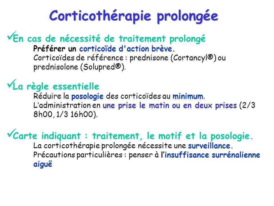 Corticothérapie prolongée
