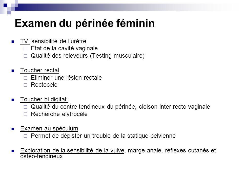 Examen du périnée féminin