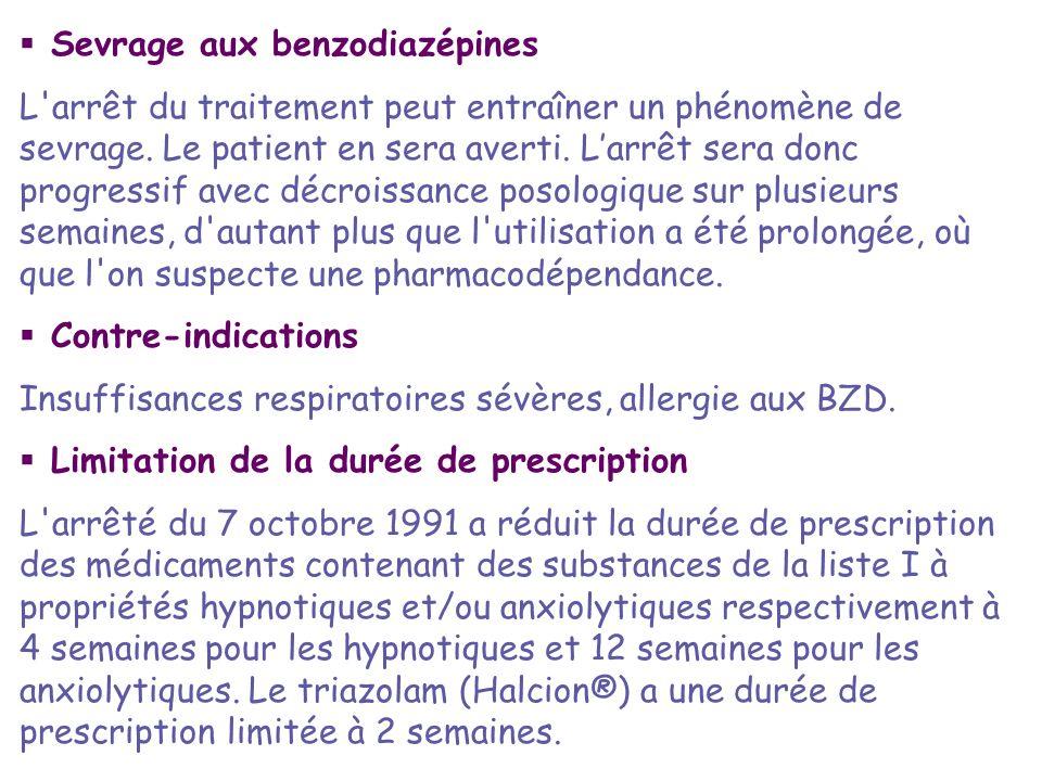 Sevrage aux benzodiazépines