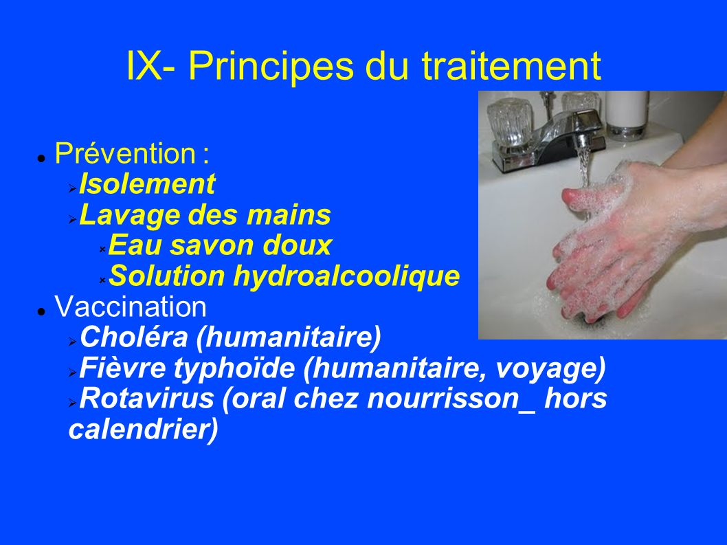 IX- Principes du traitement