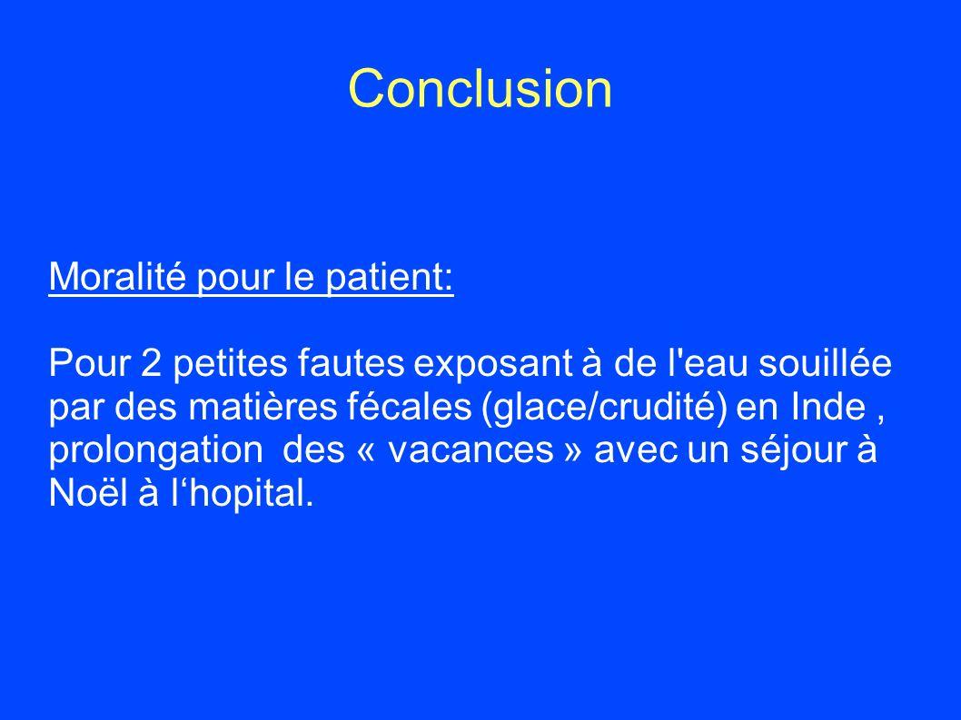Conclusion Moralité pour le patient: