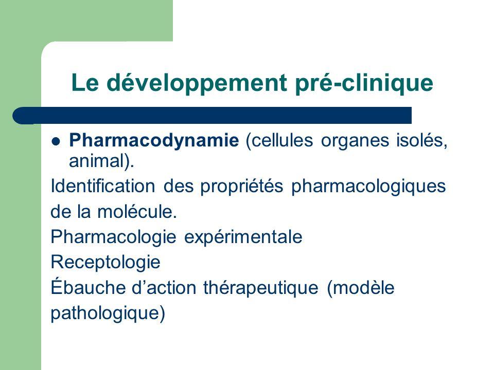 Le développement pré-clinique