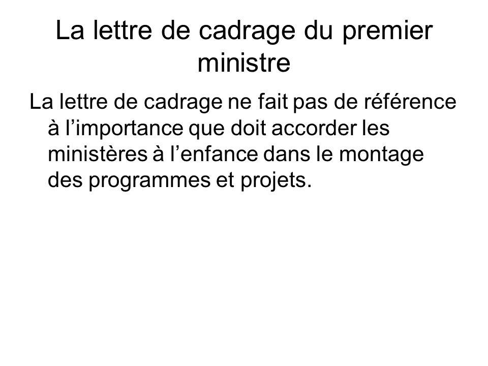 La lettre de cadrage du premier ministre