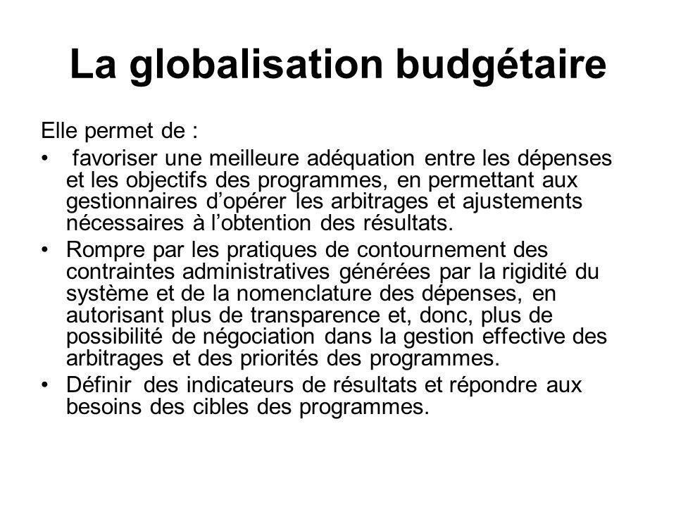 La globalisation budgétaire