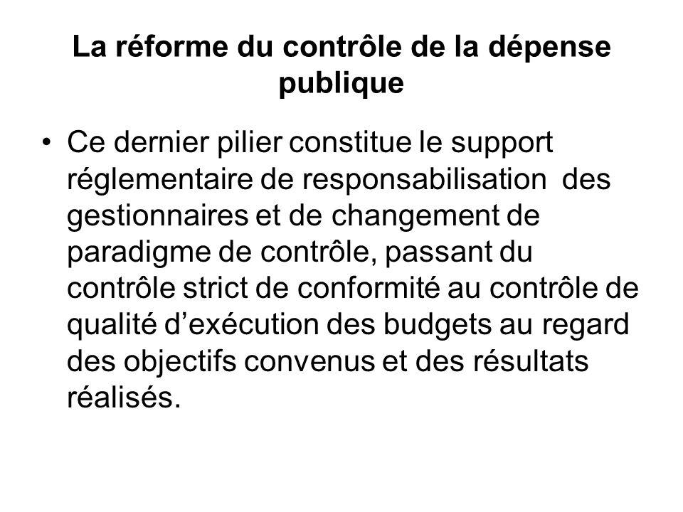 La réforme du contrôle de la dépense publique