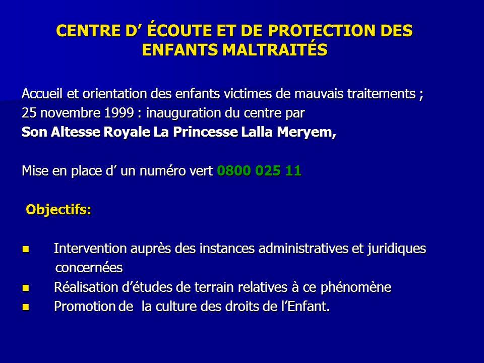 CENTRE D' ÉCOUTE ET DE PROTECTION DES ENFANTS MALTRAITÉS