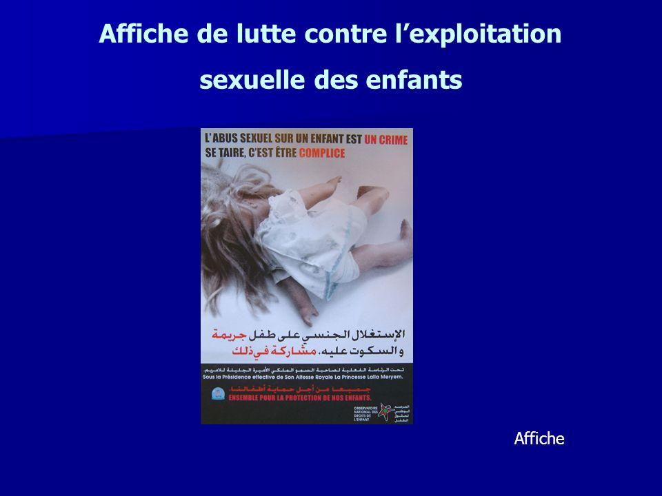 Affiche de lutte contre l'exploitation