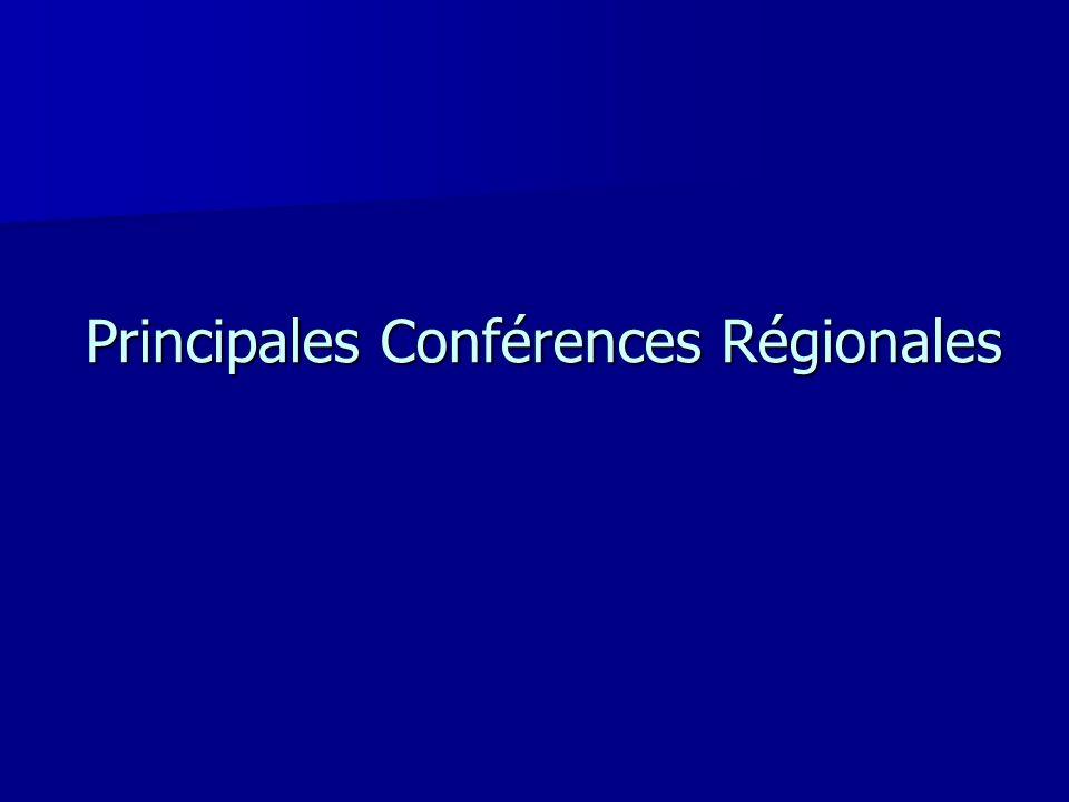 Principales Conférences Régionales