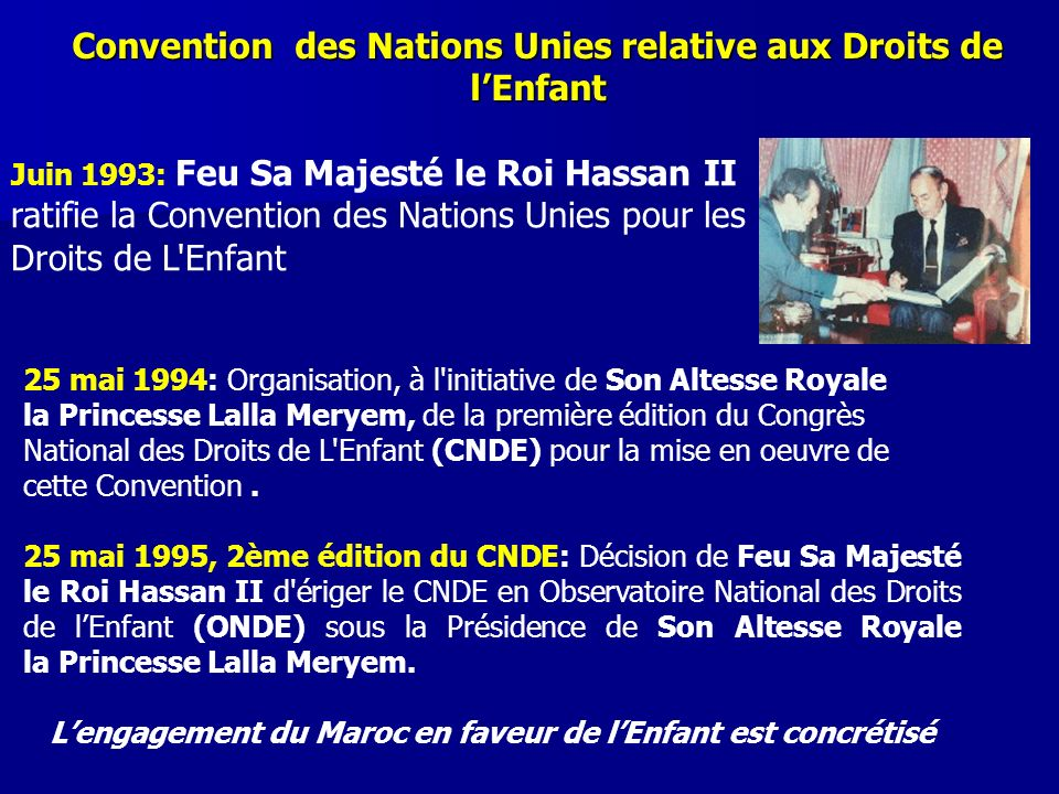 Convention des Nations Unies relative aux Droits de l'Enfant