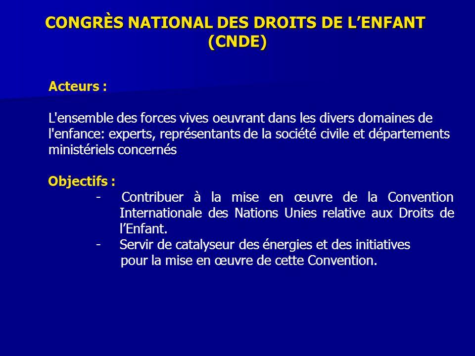 CONGRÈS NATIONAL DES DROITS DE L'ENFANT
