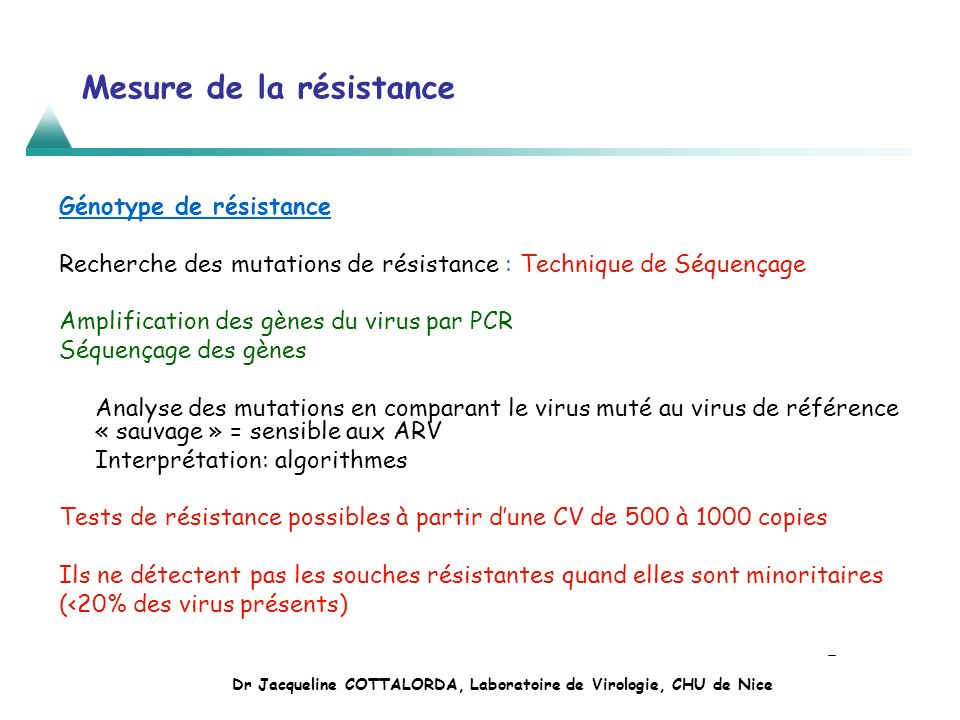 Mesure de la résistance