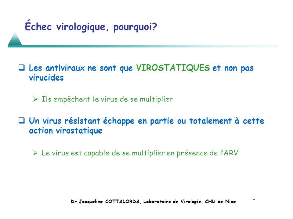 Échec virologique, pourquoi