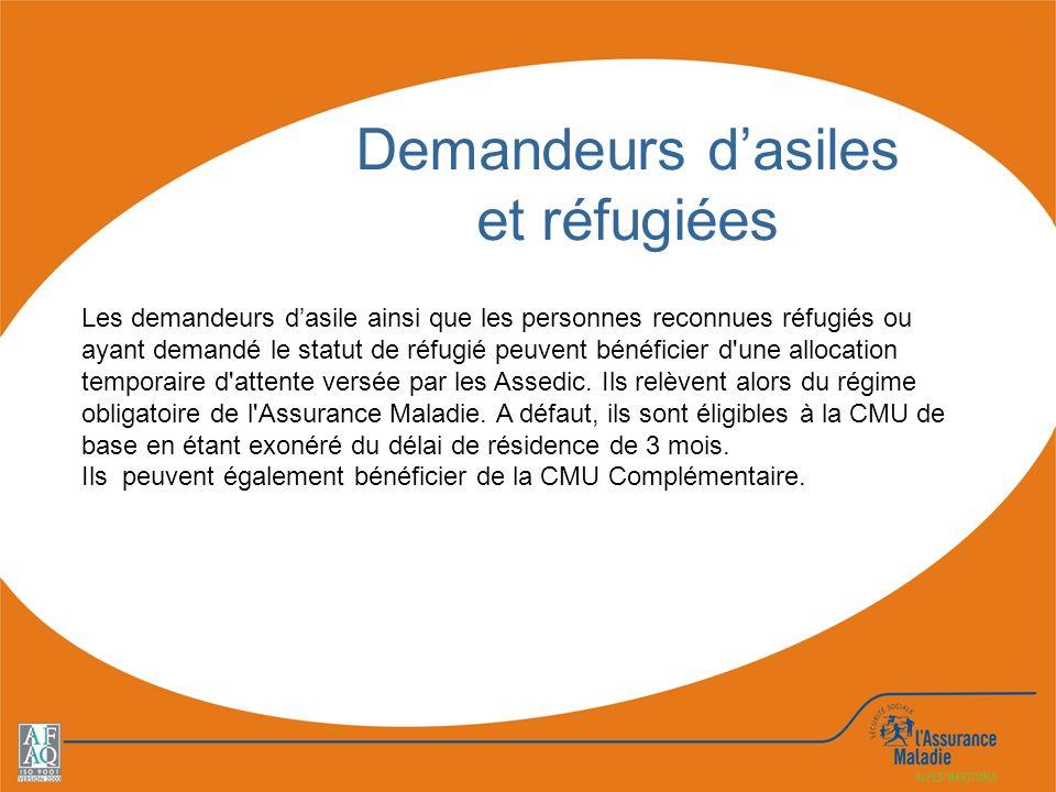 Demandeurs d'asiles et réfugiées